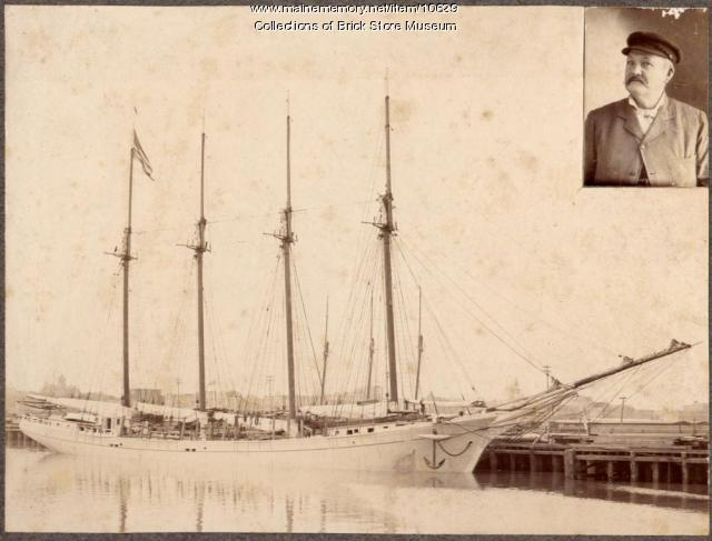 Schooner Savannah and her captain William H. Gould