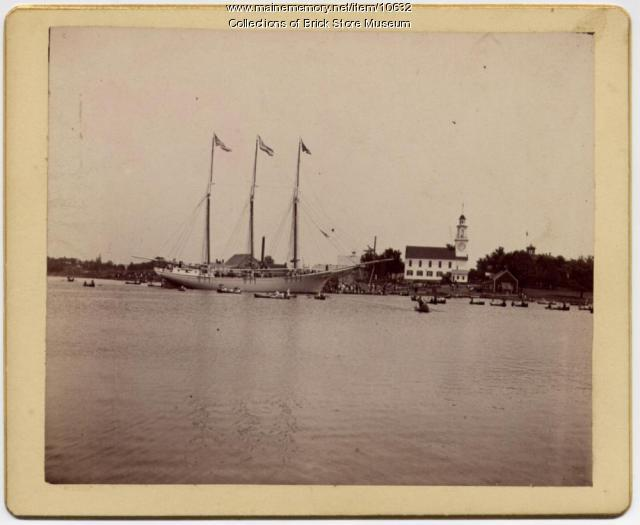 Schooner Golden Ball at Kennebunkport, 1890