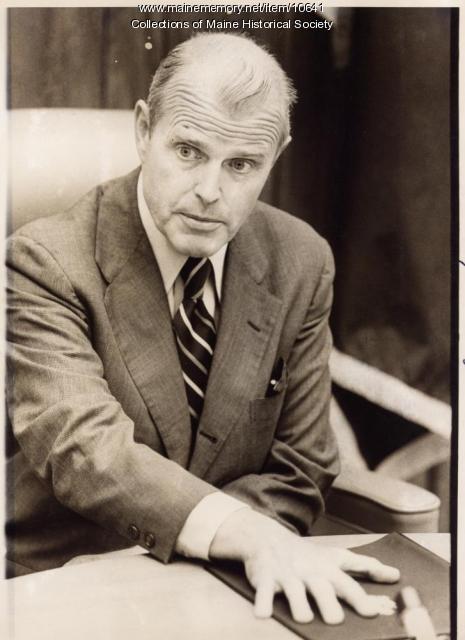 James Longley at press conference, 1978