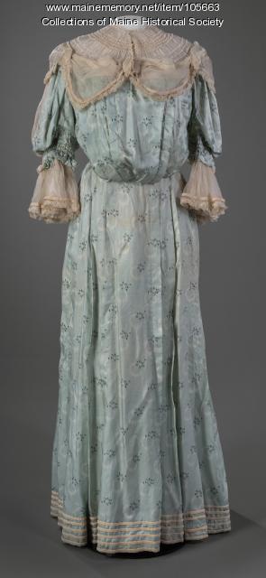Pigeon bodice day dress, Lewiston, ca. 1895