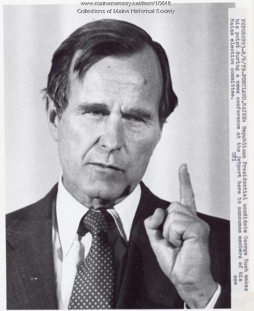 George Bush, presidential candidate, Portland, 1979
