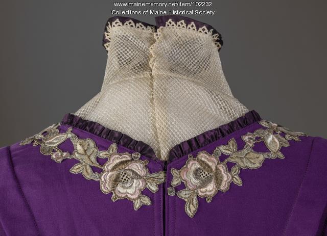 Dress made by Martha Willey Riley, Cherryfield, ca. 1912