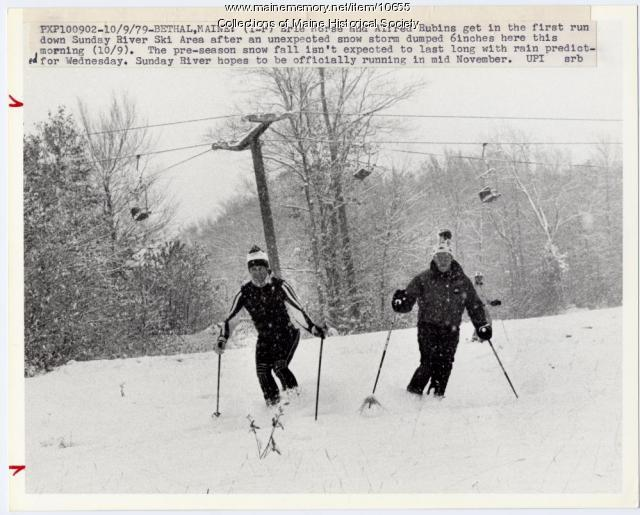 October skiing, Sunday River, 1979