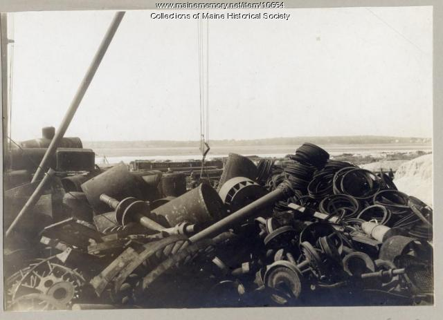 Pile of scrap, W.H. Perry Co., Portland, circa 1909