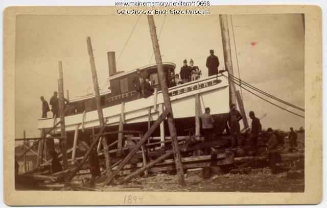 Steam tug Lester L, Kennebunkport, 1894