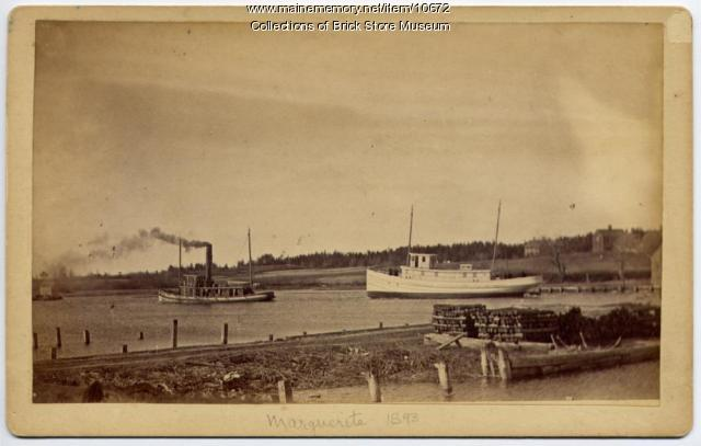 Steam tug Margueritte, Kennebunkport, 1893