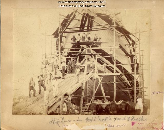 Ship Reuce, Kennebunk, 1881
