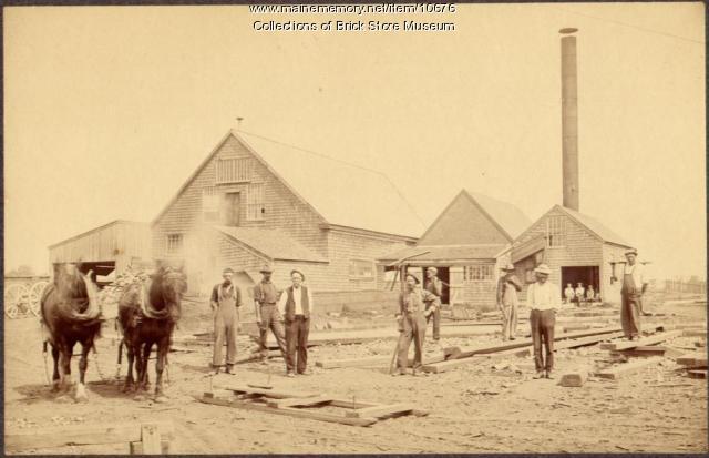 David Clark shipyard, Kennebunkport, 1900