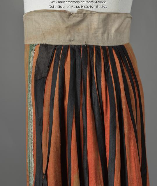 Silk panel skirt with embroidery, China, ca. 1885