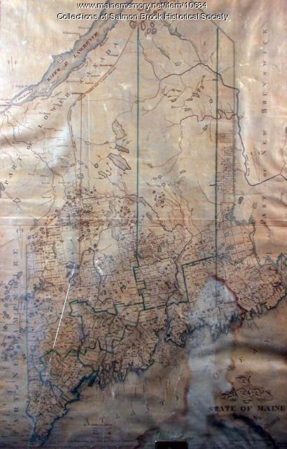 Maine map, ca. early 1800s