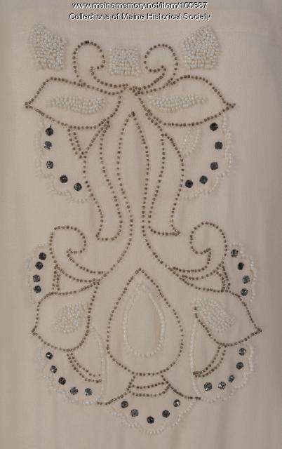 Hattie B. Morrison's chiffon dress, Belmont, NH, ca. 1926
