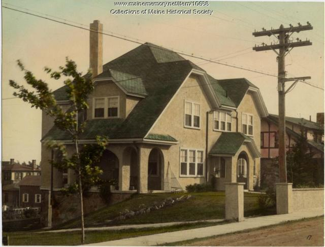 Stone house with clipped gables, 974 Sawyer Street, South Portland, c. 1920s