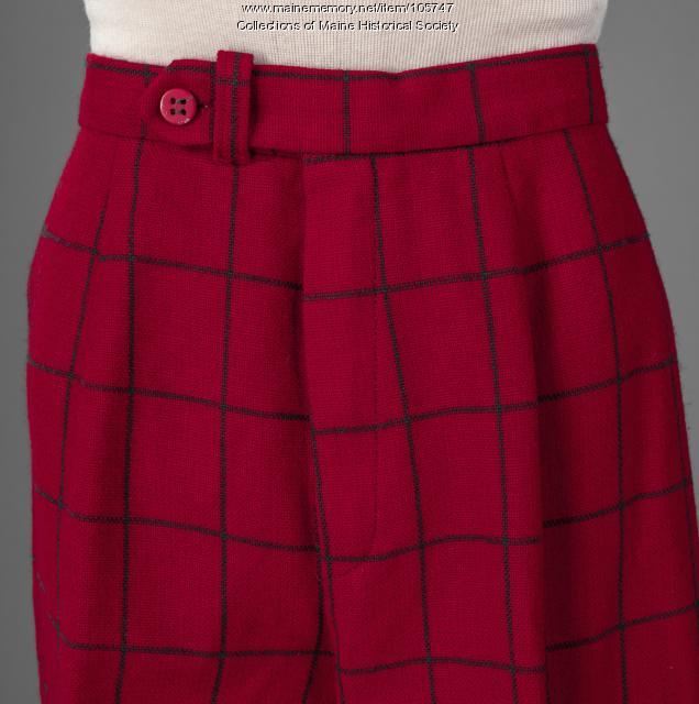 Leslie Butler's window pane check suit, ca. 1975