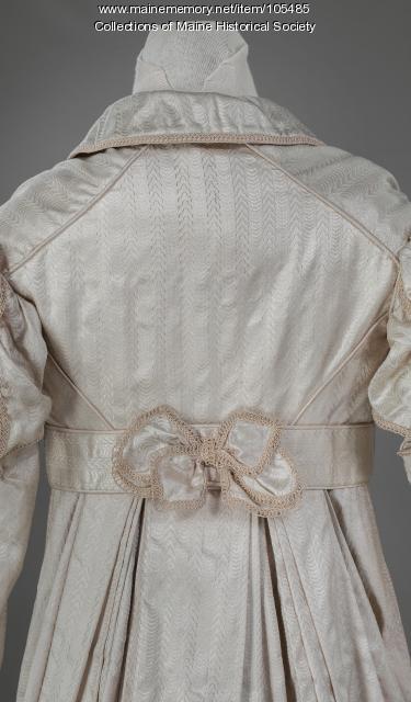 Zilpah Longfellow's detailed silk gown, Portland, ca. 1822