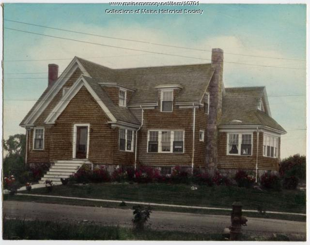 House with cross gabled roof, Adelbert Street, South Portland, ca. 1920s