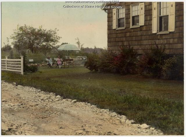 Children in yard, Clifford Street, South Portland, ca. 1920s