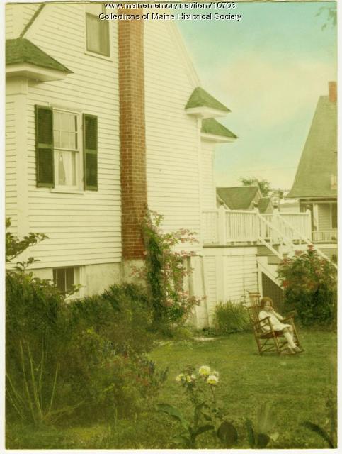 Side view of 30 Adelbert Street, South Portland, ca. 1920s