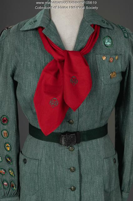 Beverly Conant's Girl Scout uniform, Farmington, ca. 1945
