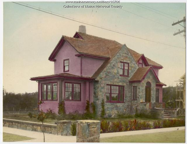 Stone and stucco house, 6 Richards Street, South Portland, c. 1920s