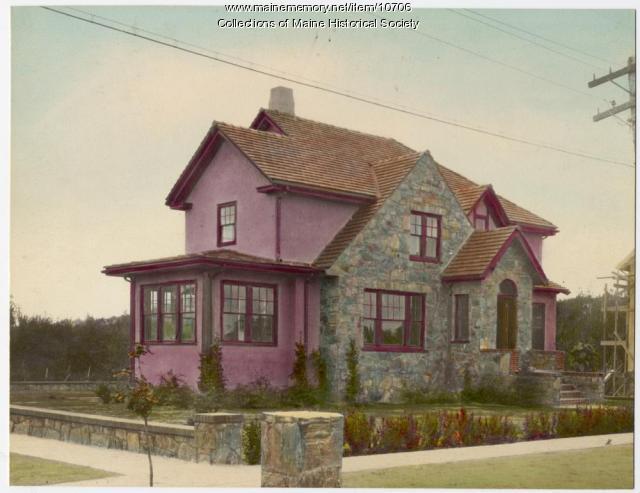 Stone and stucco house, 6 Richards Street, South Portland, c. 1920s
