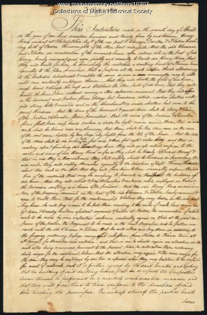 Indenture for Ebenezer Dunton, April 7, 1794