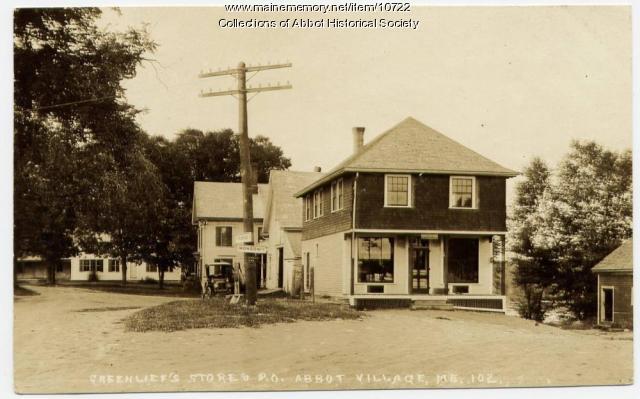 Greenlief's Store, Abbot, ca. 1900