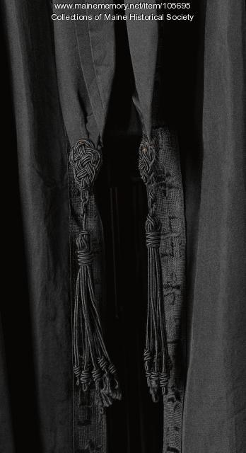 Black evening coat, ca. 1905