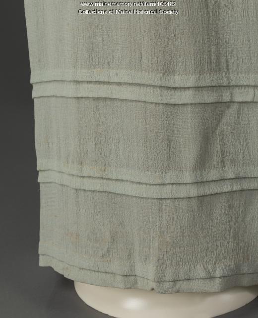 Dress with Juliet sleeves, Eastport, ca. 1822