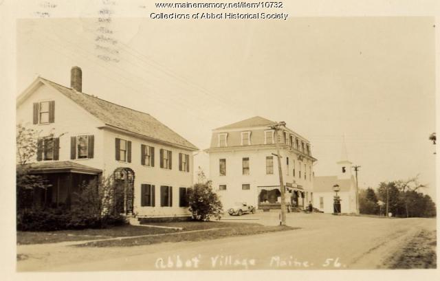 Buxton house and store, Abbot, ca. 1900