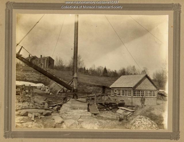 Portland-Monson Slate Company hoist