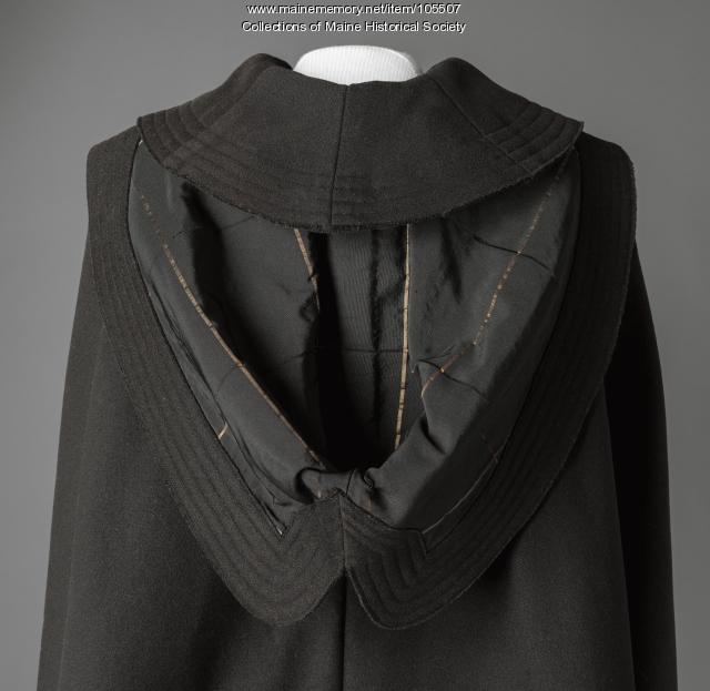 Cape with burnoose hood, ca. 1865