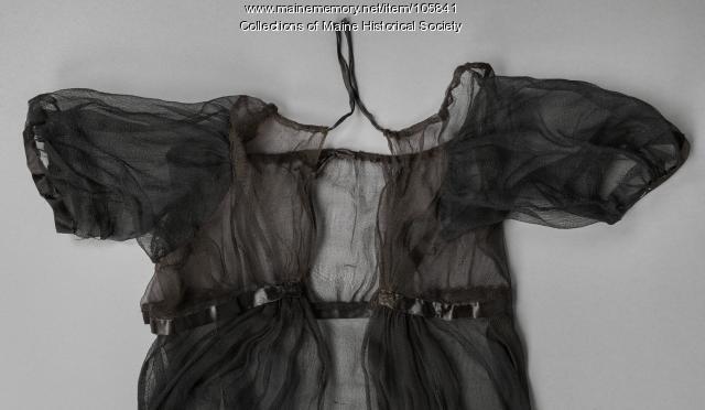 Zilpah Longfellow's mourning dress, Portland, ca. 1804