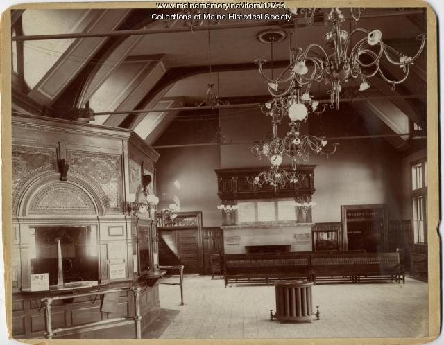 Interior of Union Station, Portland, ca. 1890
