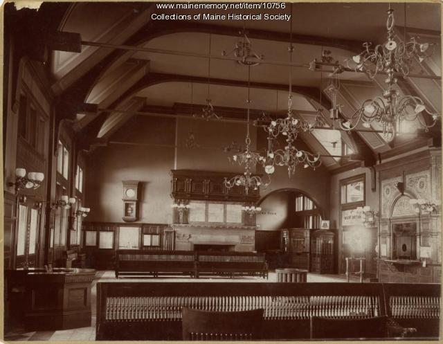 Waiting room, Union Station, Portland, ca. 1890