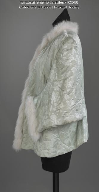 Dolman sleeve evening mantle, ca. 1875