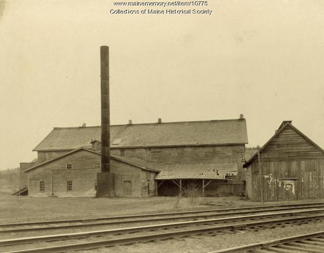 Steam lumber mill, Gilbertville, 1906