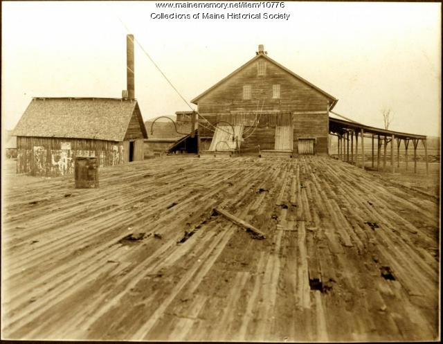 Gilbertville steam lumber mill, 1906