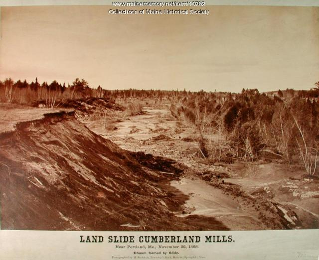 Landslide, Cumberland Mills, 1868