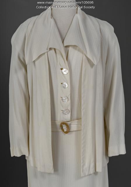 Three piece rayon suit, Portland, ca. 1935