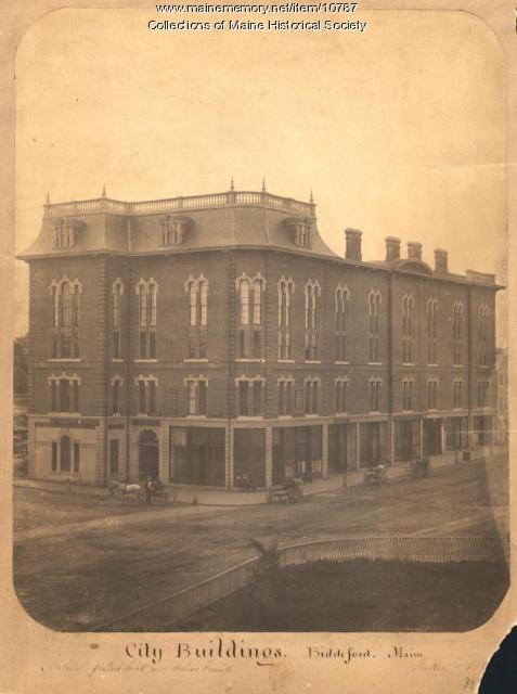 City Buildings, Biddeford, ca. 1860