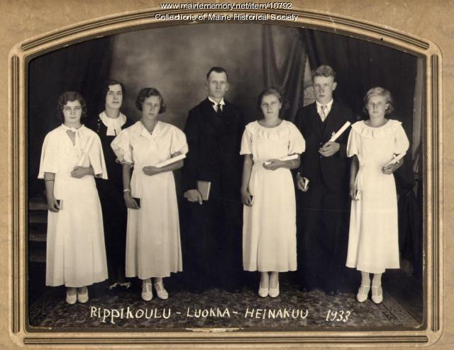 Finnish Church confirmation class, South Thomaston, 1933