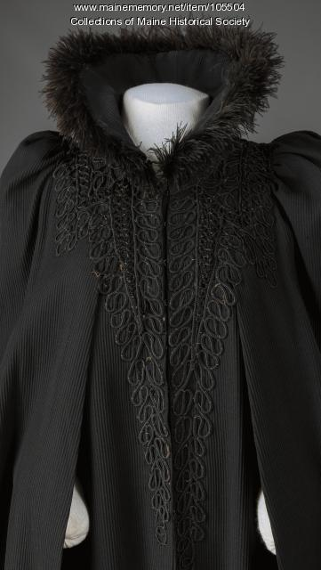 Mantle with ostrich feathers, ca. 1890