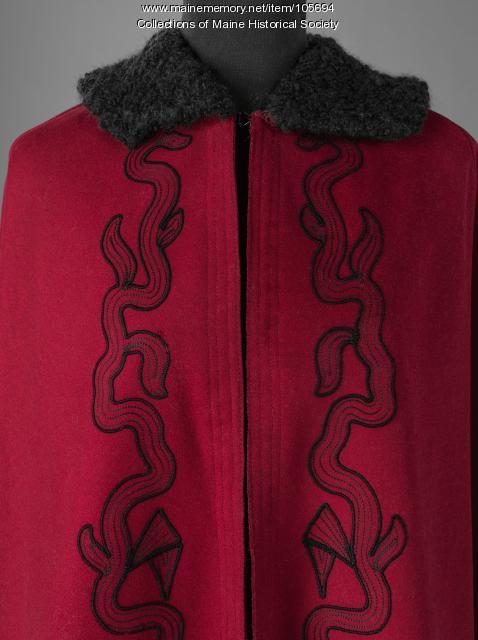 Elizabeh McNeil Butts wool cloak, Lewiston, ca. 1903