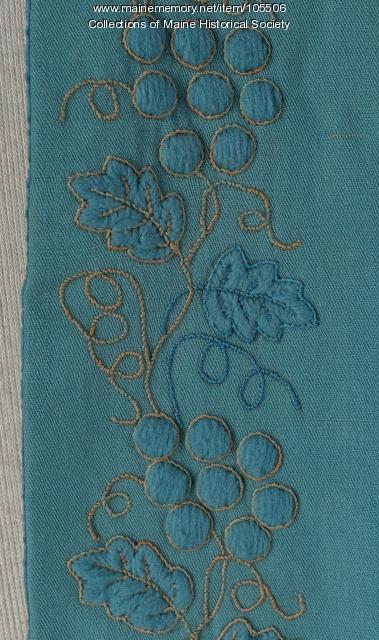 Grapevine embroided cape, Portland, ca. 1840