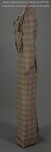 """Stephanie Butler's pant suit by """"Crazy Horse,"""" ca.1975"""