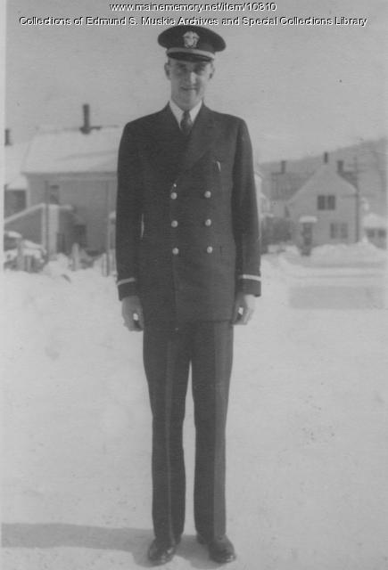 Ensign Edmund S. Muskie, Rumford, ca. 1943