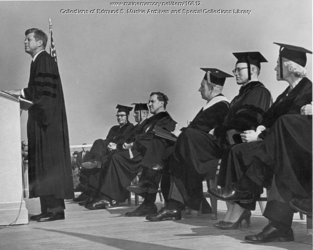 President Kennedy honorary degree, Orono, 1963