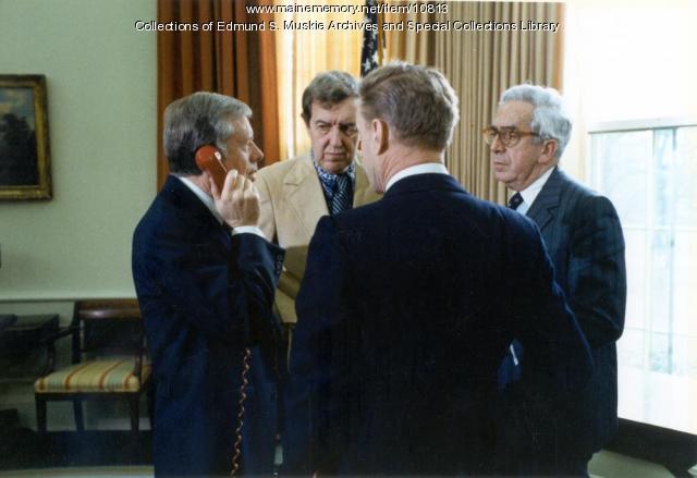 President Jimmy Carter, Edmund Muskie, Washington, D.C., January 20, 1980