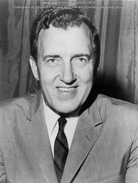 Edmund S. Muskie, Democratic nominee for U.S. vice president, 1968