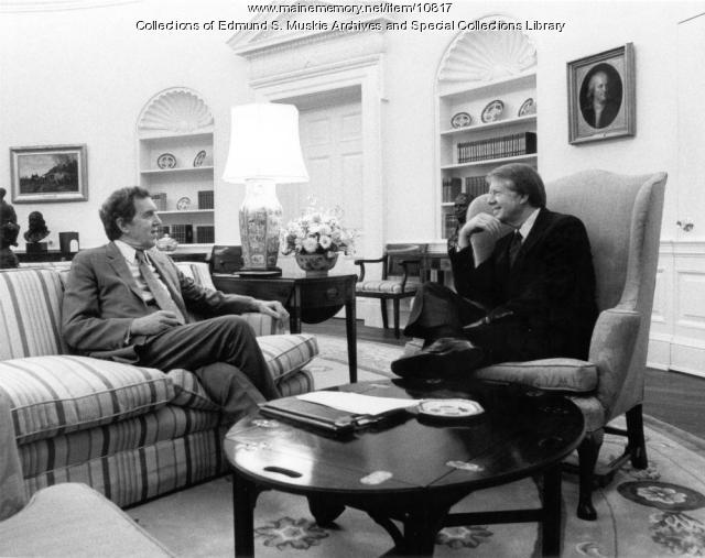 Edmund S. Muskie, Jimmy Carter, Washington, D.C., 1977